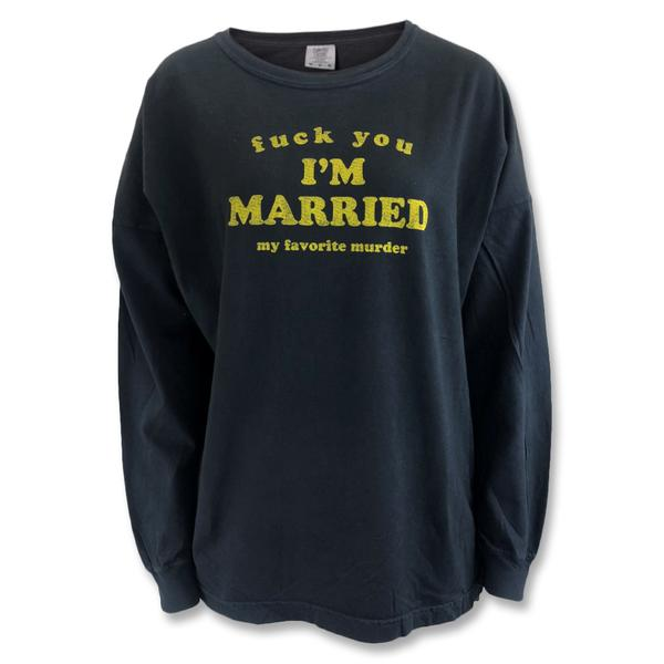 I'm Married Drop Shoulder Long Sleeve T-Shirt